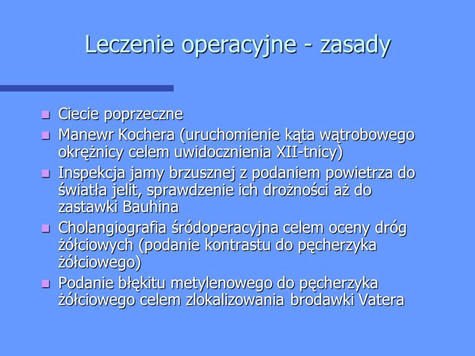 Leczenie operacyjne - zasady