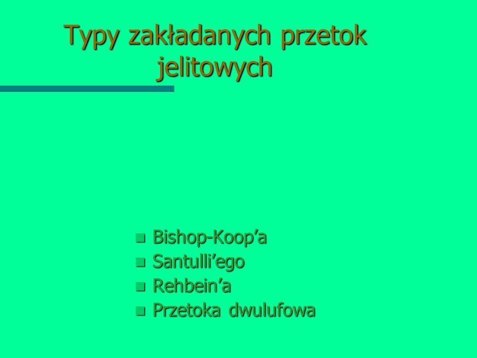 Typy zakładanych przetok jelitowych