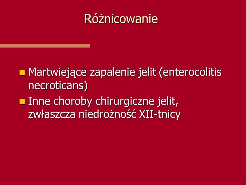 Różnicowanie Martwiejące zapalenie jelit (enterocolitis necroticans)