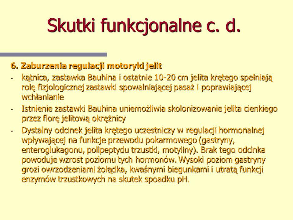 Skutki funkcjonalne c. d.