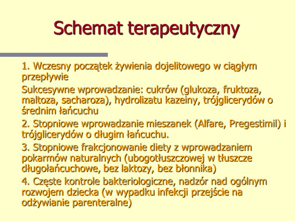 Schemat terapeutyczny