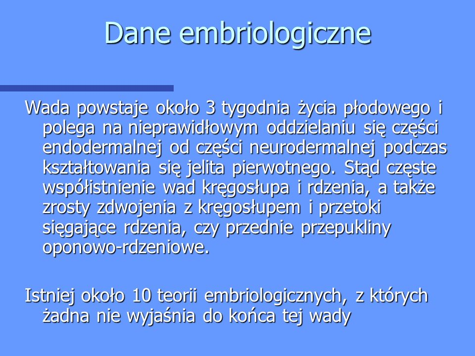 Dane embriologiczne