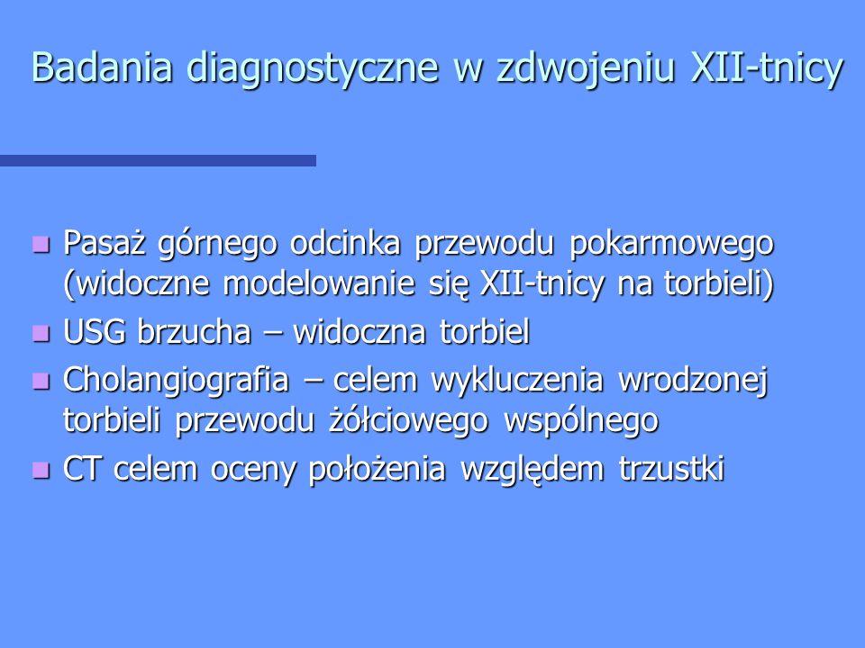 Badania diagnostyczne w zdwojeniu XII-tnicy