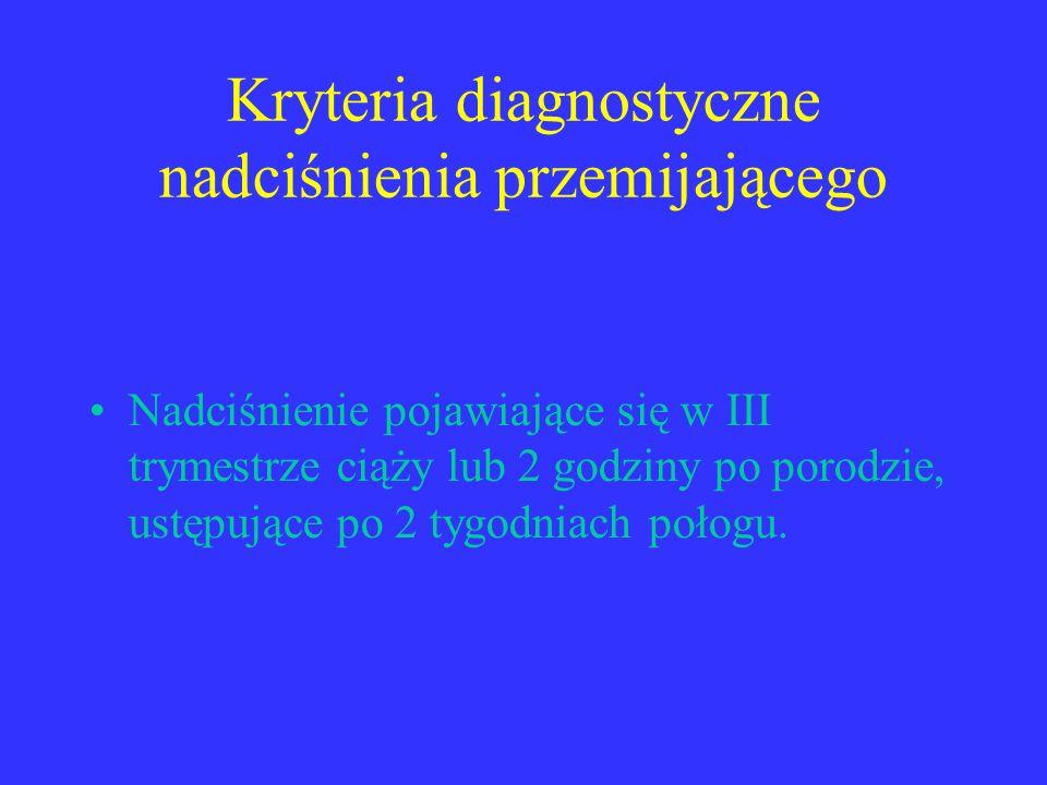 Kryteria diagnostyczne nadciśnienia przemijającego