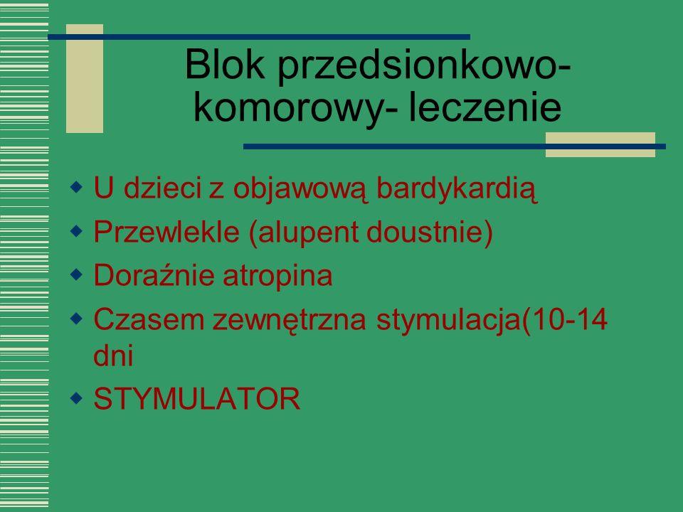Blok przedsionkowo-komorowy- leczenie
