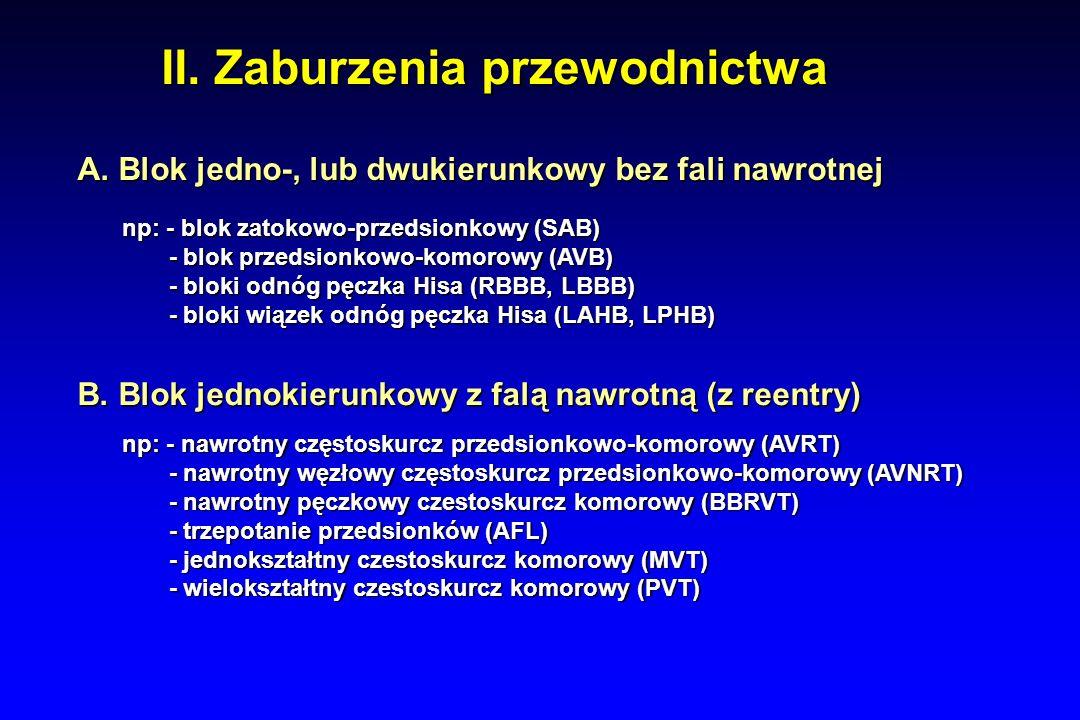II. Zaburzenia przewodnictwa