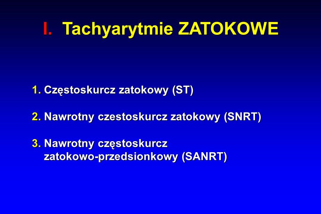 I. Tachyarytmie ZATOKOWE