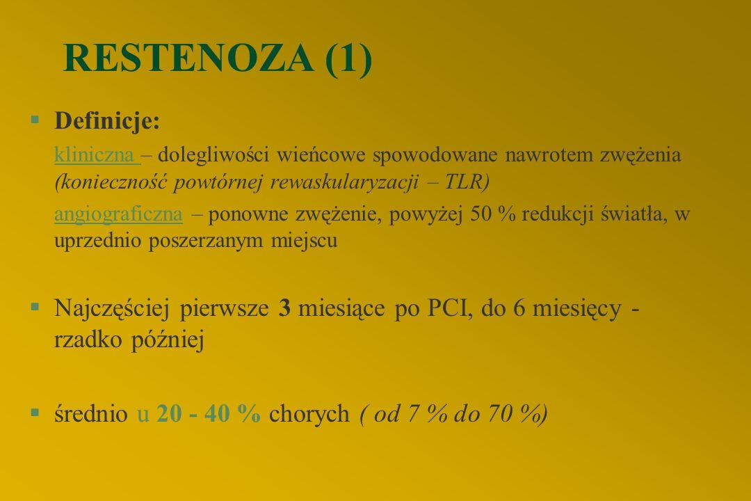 RESTENOZA (1) Definicje: