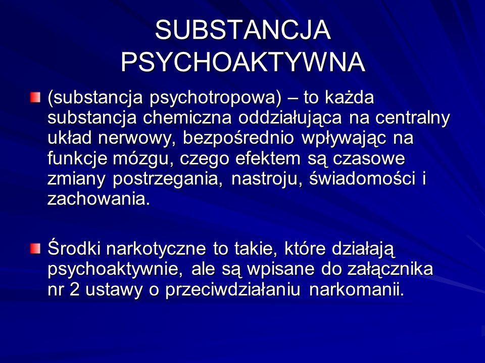 SUBSTANCJA PSYCHOAKTYWNA