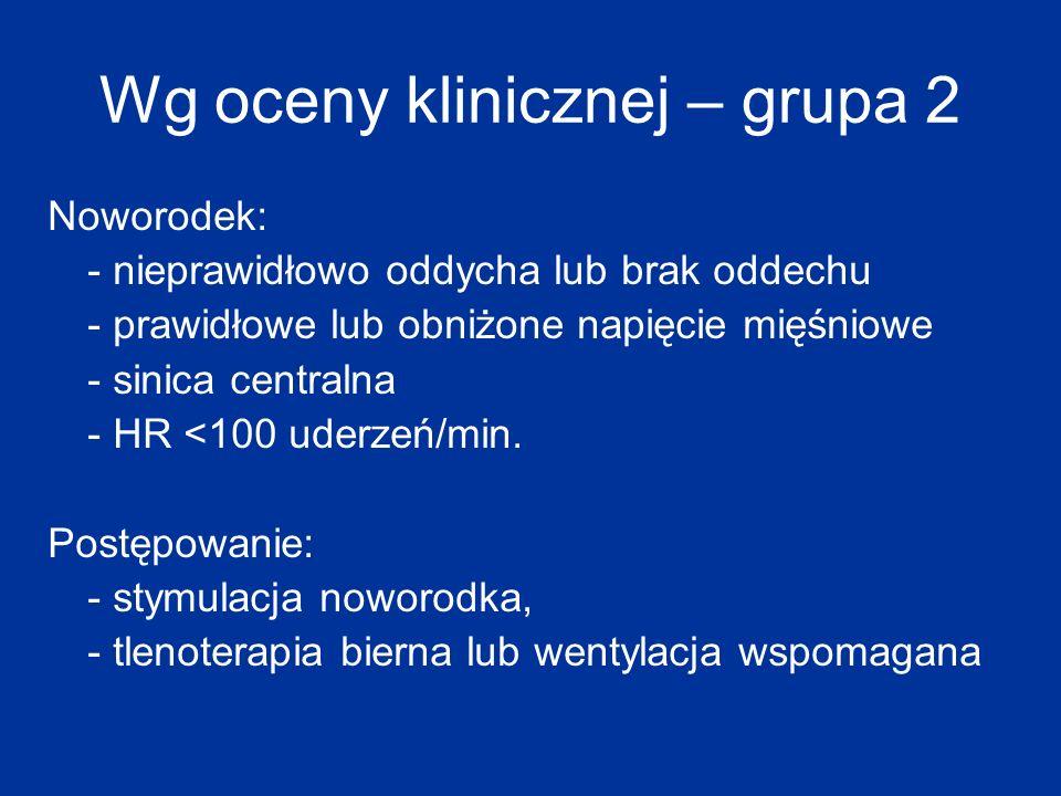 Wg oceny klinicznej – grupa 2