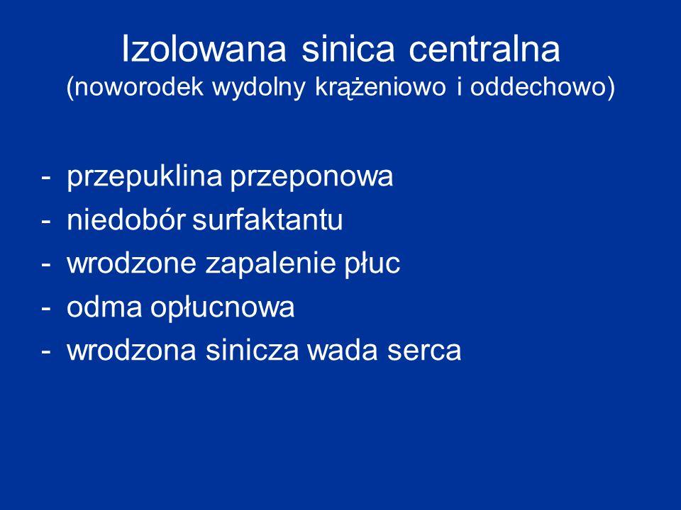 Izolowana sinica centralna (noworodek wydolny krążeniowo i oddechowo)