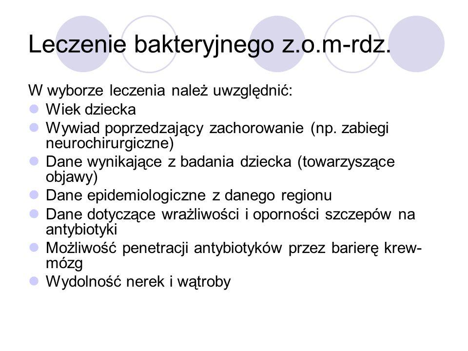 Leczenie bakteryjnego z.o.m-rdz.