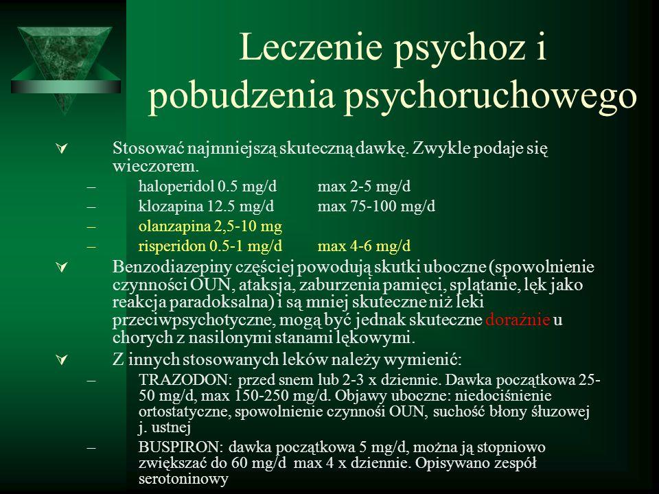 Leczenie psychoz i pobudzenia psychoruchowego