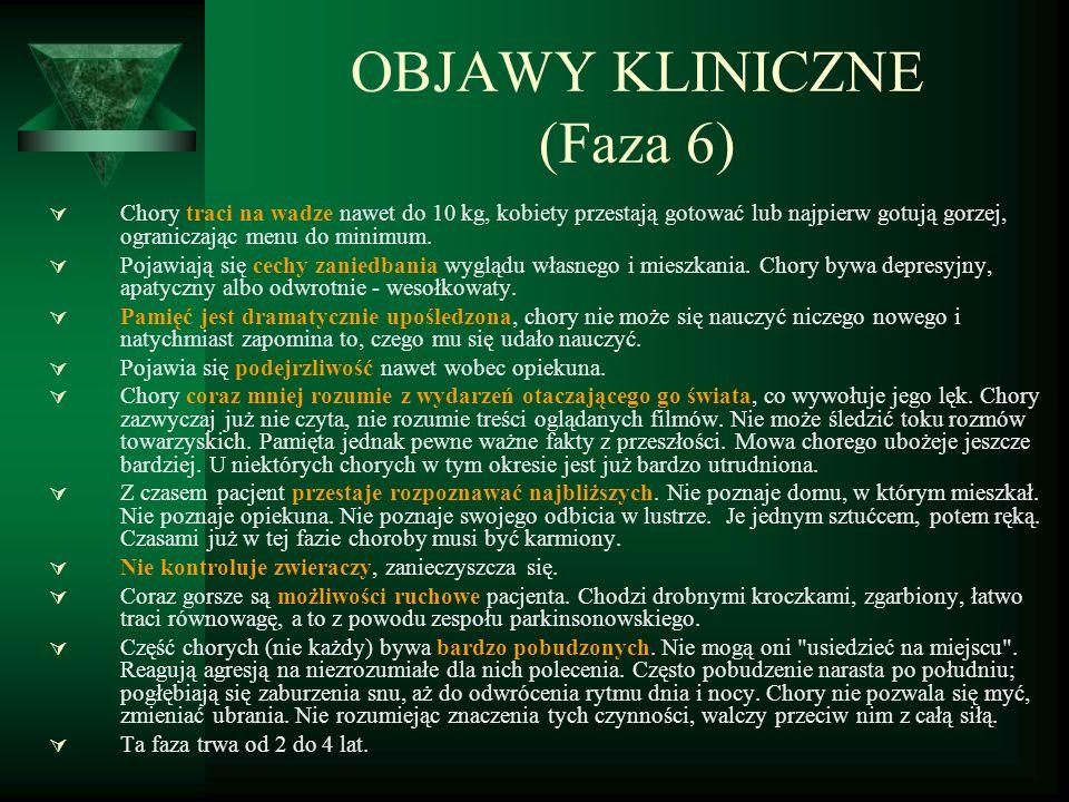 OBJAWY KLINICZNE (Faza 6)