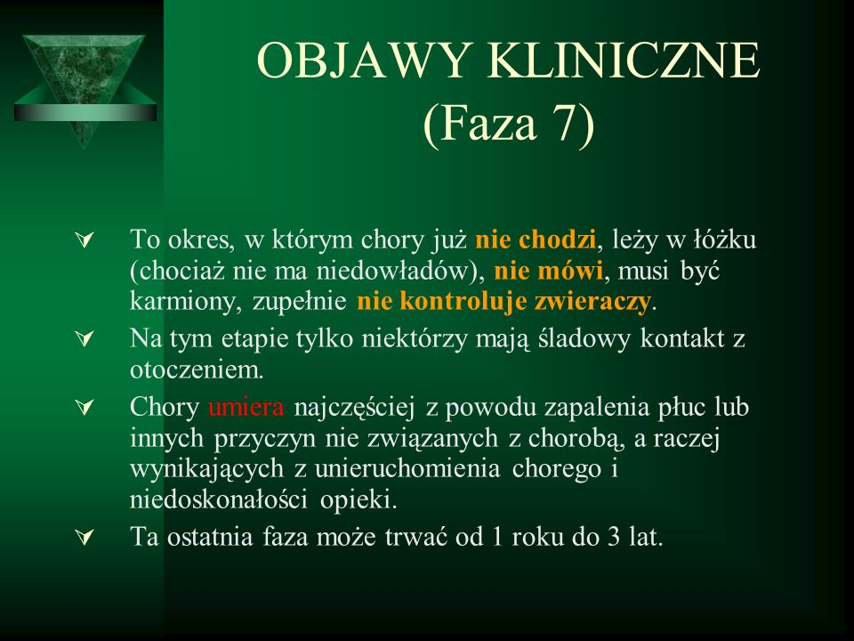 OBJAWY KLINICZNE (Faza 7)
