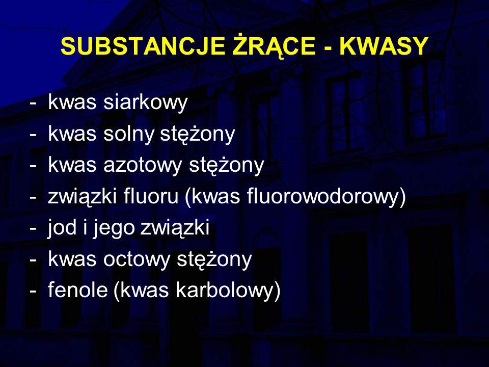 SUBSTANCJE ŻRĄCE - KWASY