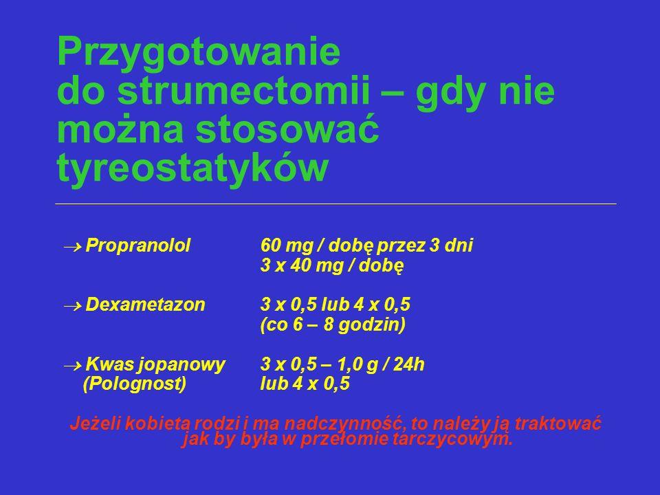 Przygotowanie do strumectomii – gdy nie można stosować tyreostatyków