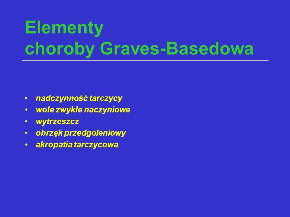 Elementy choroby Graves-Basedowa