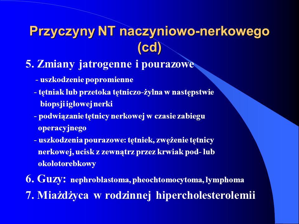 Przyczyny NT naczyniowo-nerkowego (cd)
