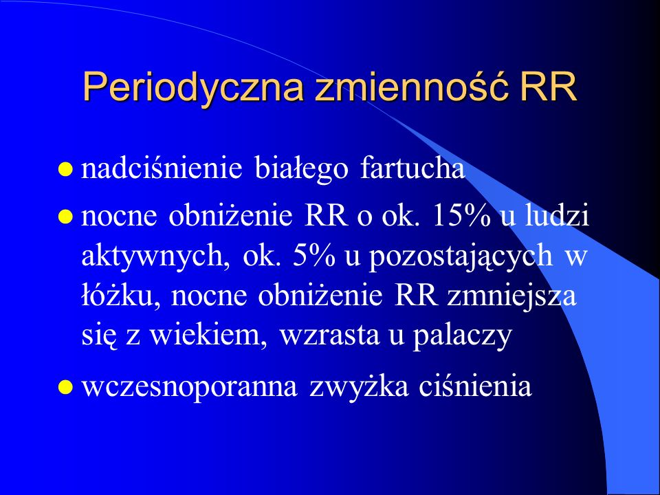 Periodyczna zmienność RR