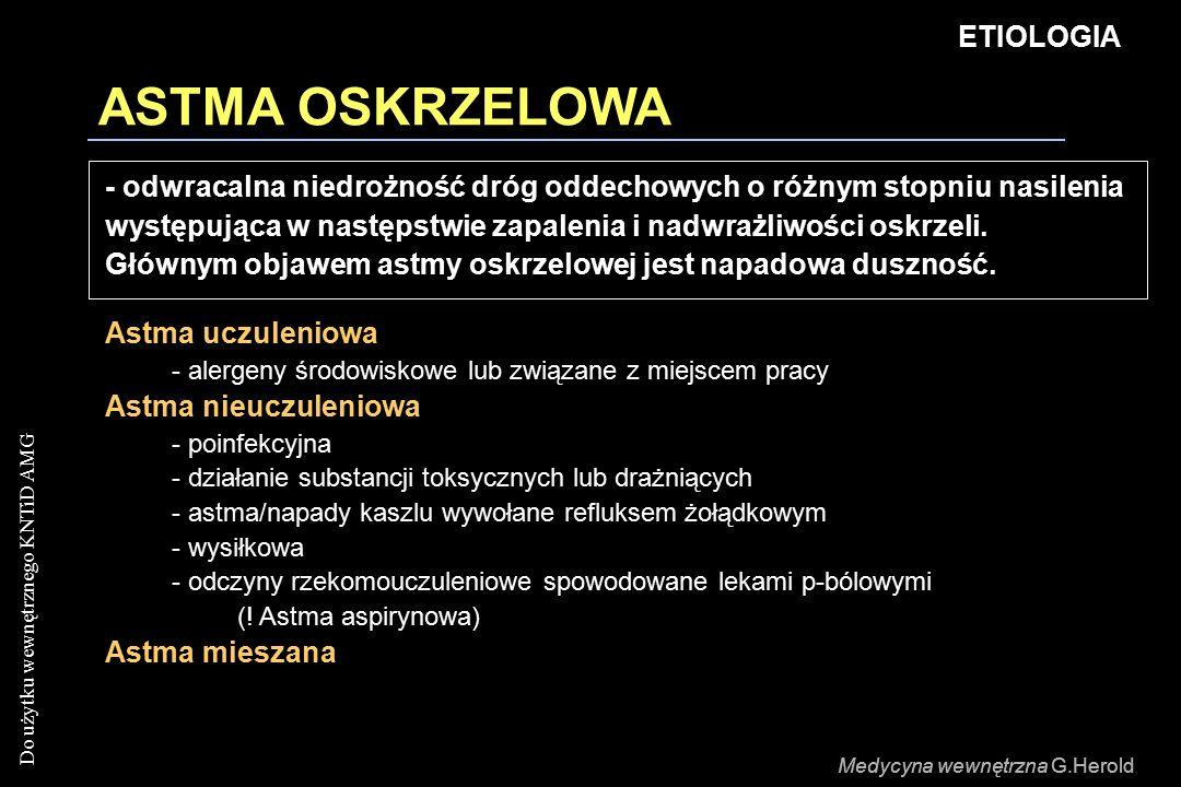 ASTMA OSKRZELOWA ETIOLOGIA