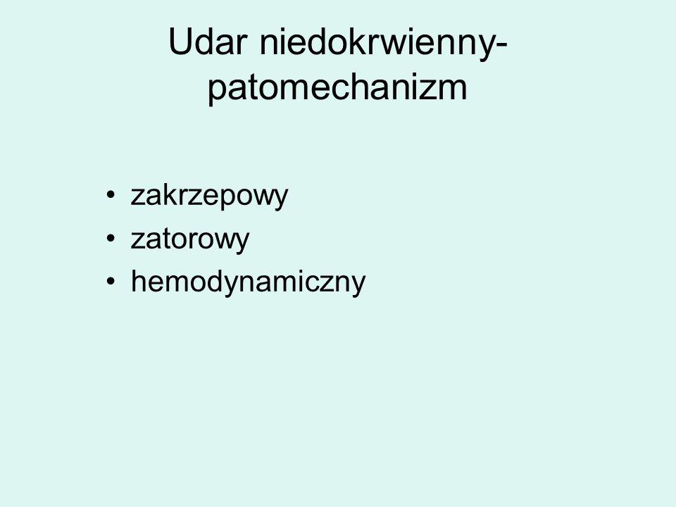 Udar niedokrwienny- patomechanizm