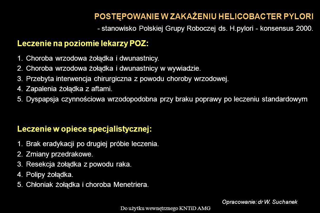 Leczenie na poziomie lekarzy POZ: