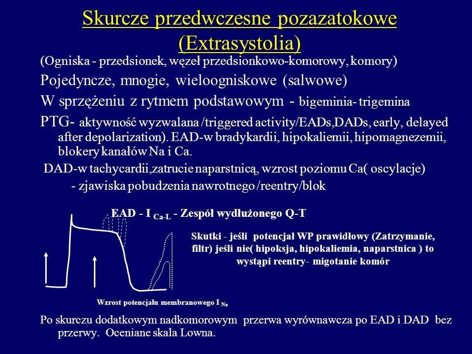 Skurcze przedwczesne pozazatokowe (Extrasystolia)