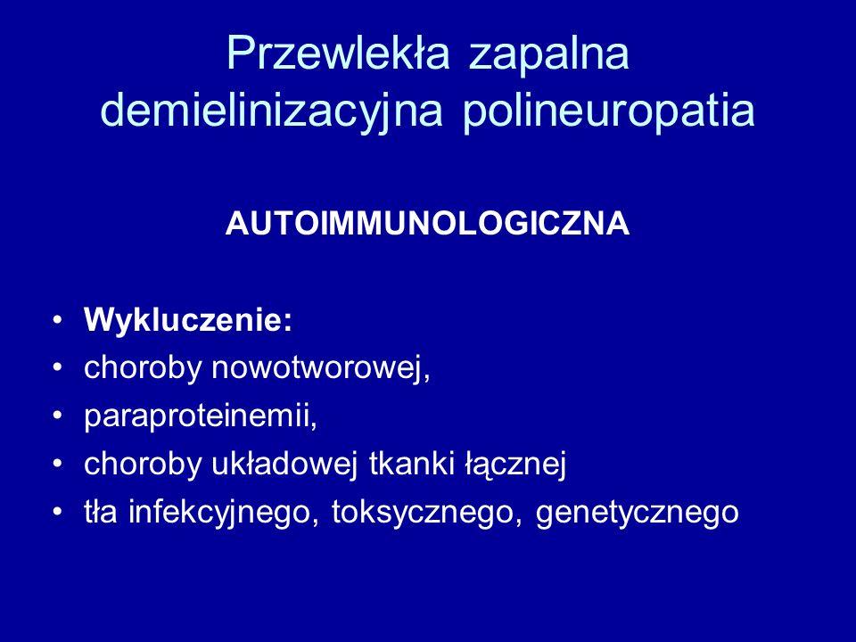 Przewlekła zapalna demielinizacyjna polineuropatia