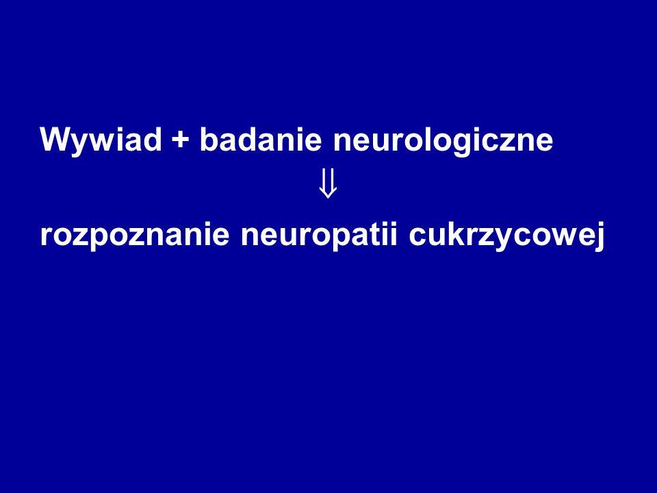 Wywiad + badanie neurologiczne