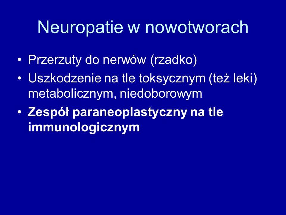 Neuropatie w nowotworach