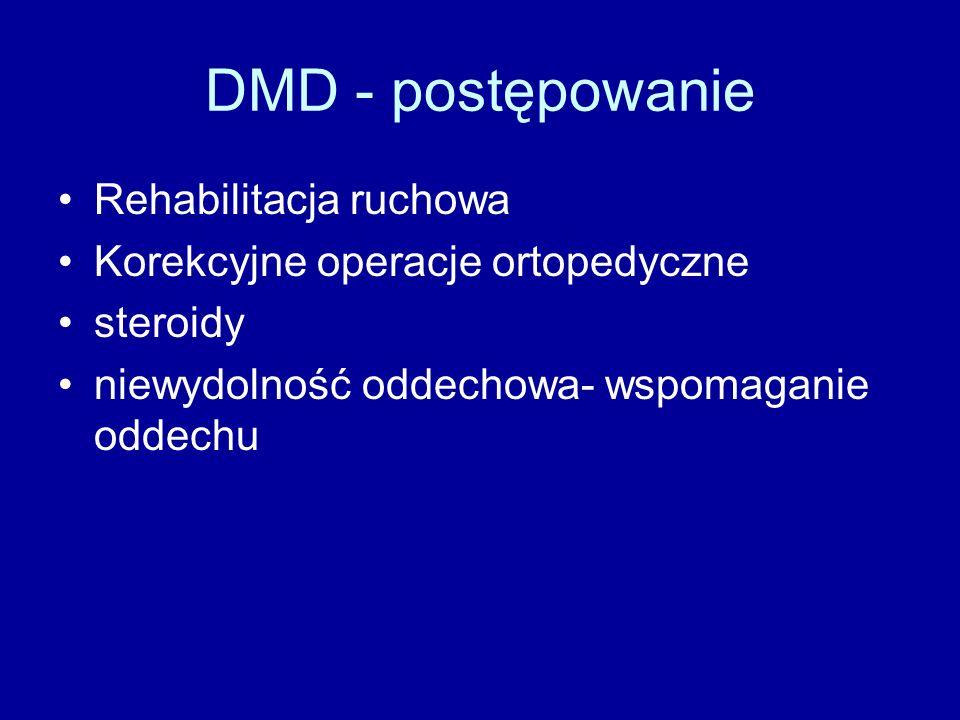 DMD - postępowanie Rehabilitacja ruchowa