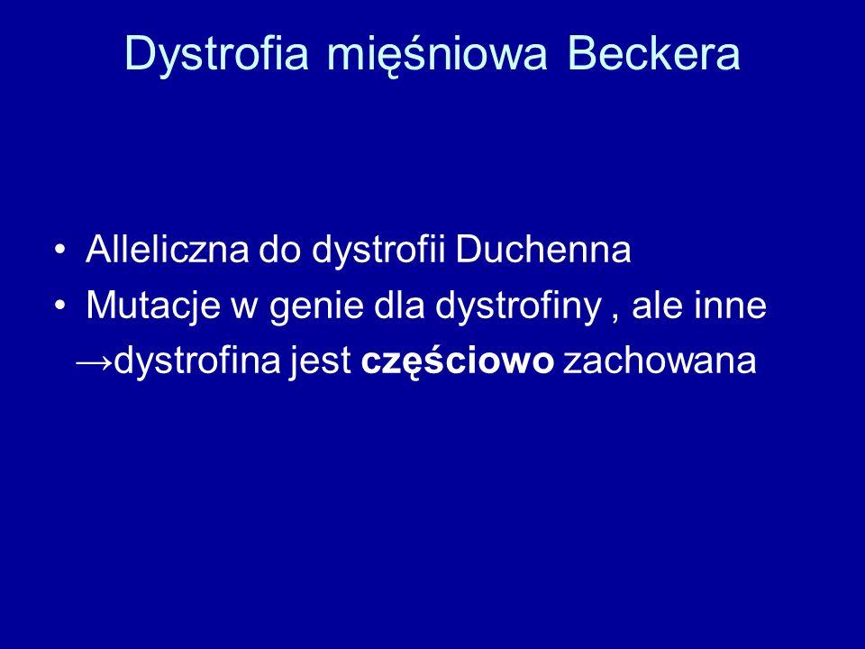 Dystrofia mięśniowa Beckera