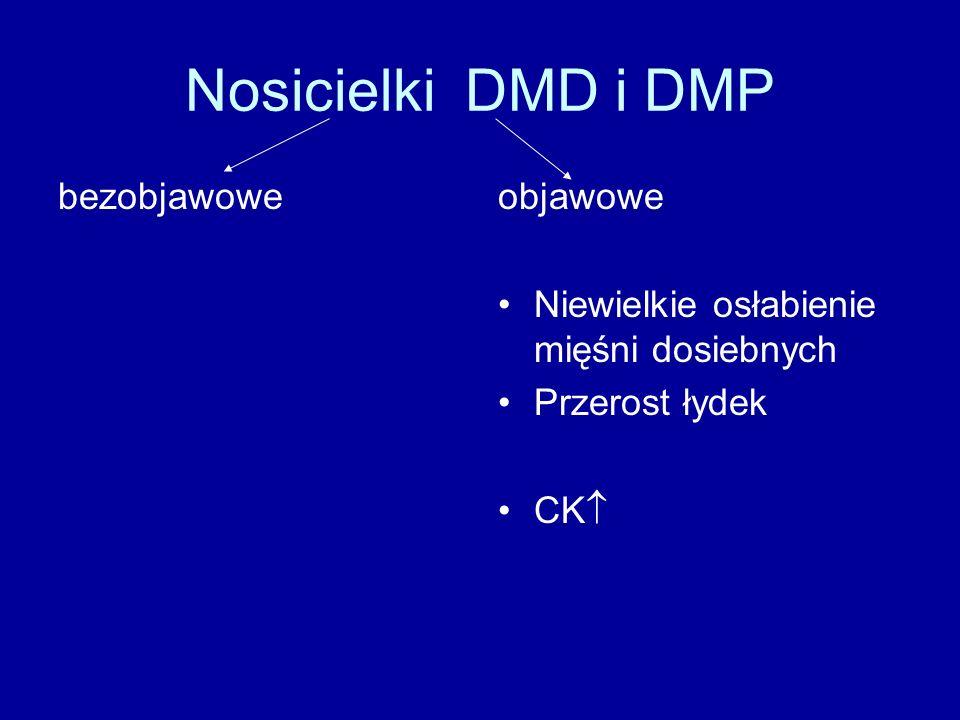 Nosicielki DMD i DMP bezobjawowe objawowe