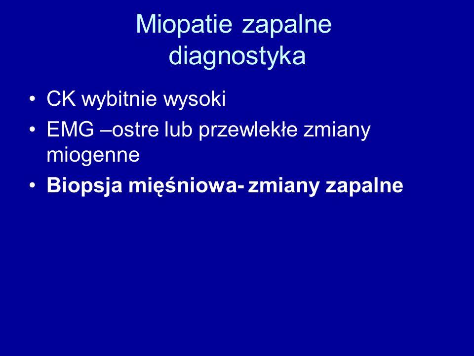 Miopatie zapalne diagnostyka