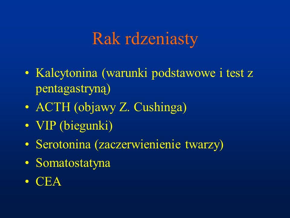 Rak rdzeniasty Kalcytonina (warunki podstawowe i test z pentagastryną)
