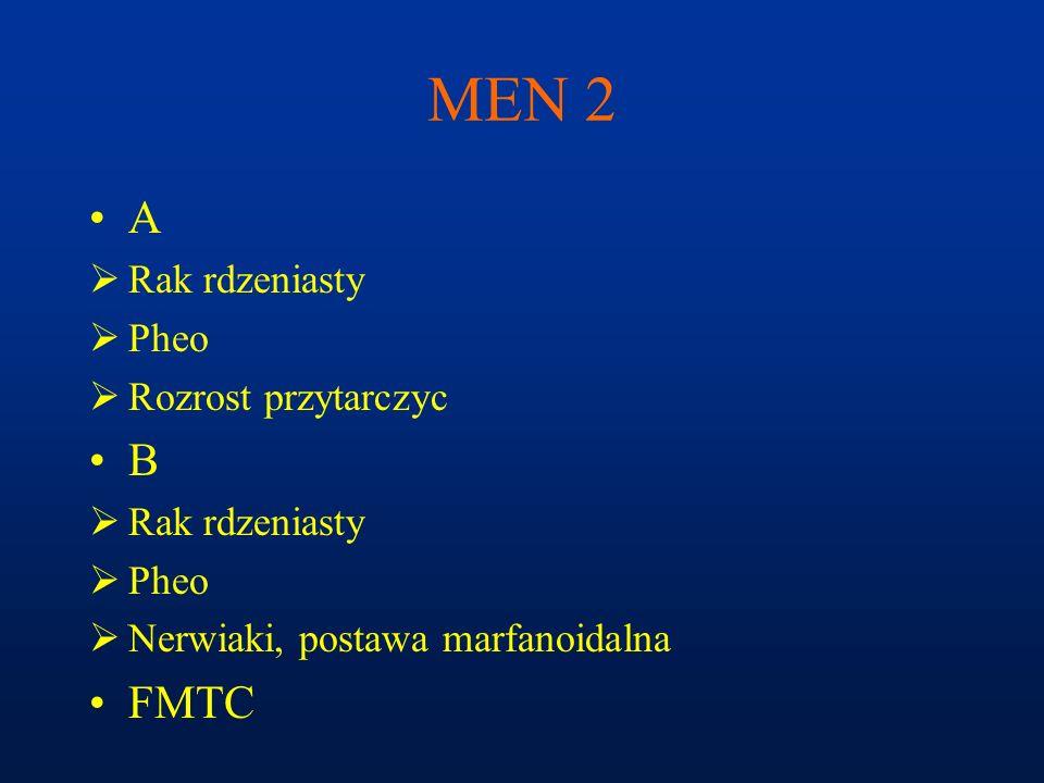 MEN 2 A B FMTC Rak rdzeniasty Pheo Rozrost przytarczyc