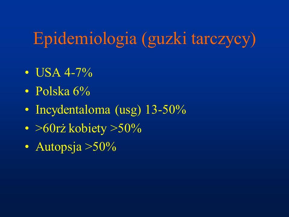 Epidemiologia (guzki tarczycy)