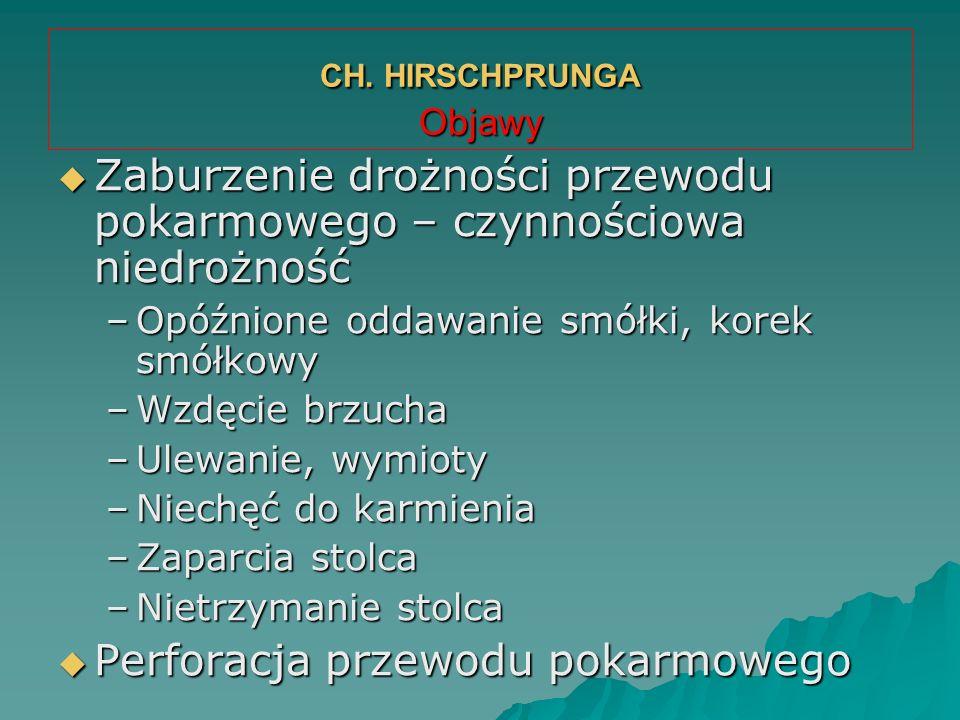 CH. HIRSCHPRUNGA Objawy