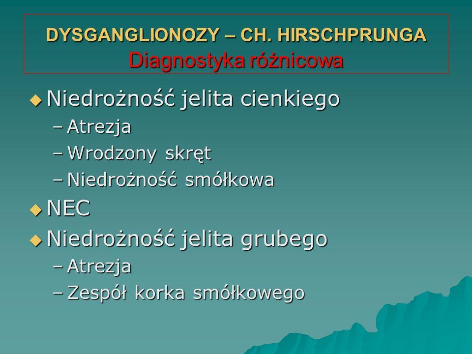 DYSGANGLIONOZY – CH. HIRSCHPRUNGA Diagnostyka różnicowa