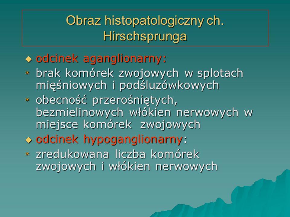 Obraz histopatologiczny ch. Hirschsprunga