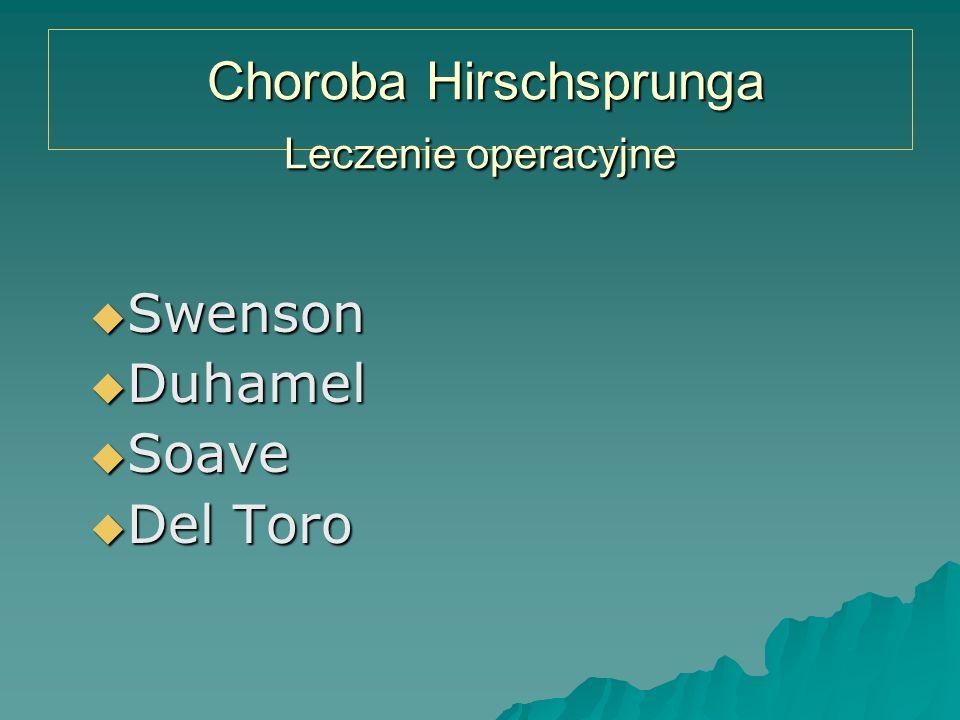 Choroba Hirschsprunga Leczenie operacyjne