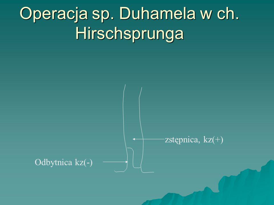 Operacja sp. Duhamela w ch. Hirschsprunga