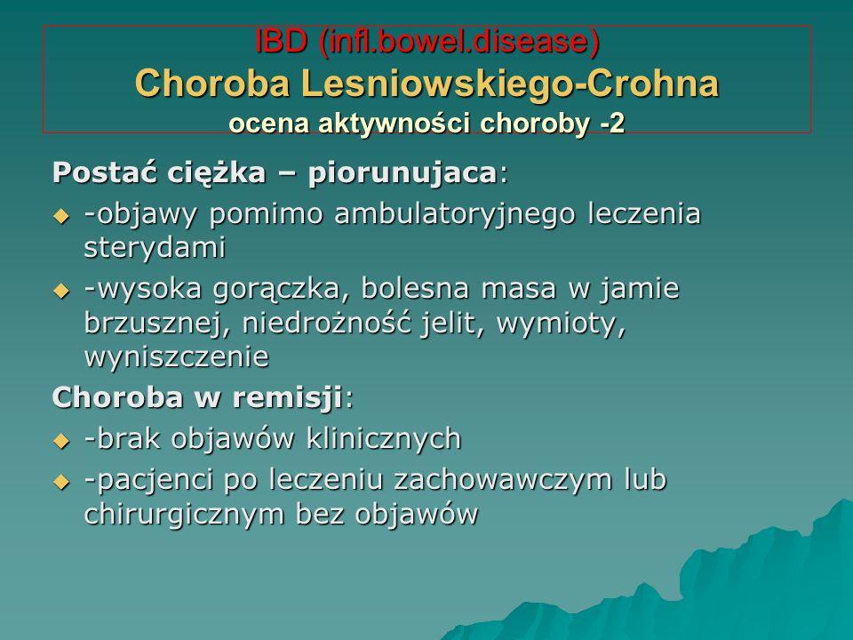 IBD (infl.bowel.disease) Choroba Lesniowskiego-Crohna ocena aktywności choroby -2