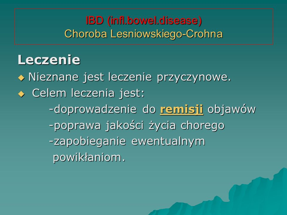 IBD (infl.bowel.disease) Choroba Lesniowskiego-Crohna