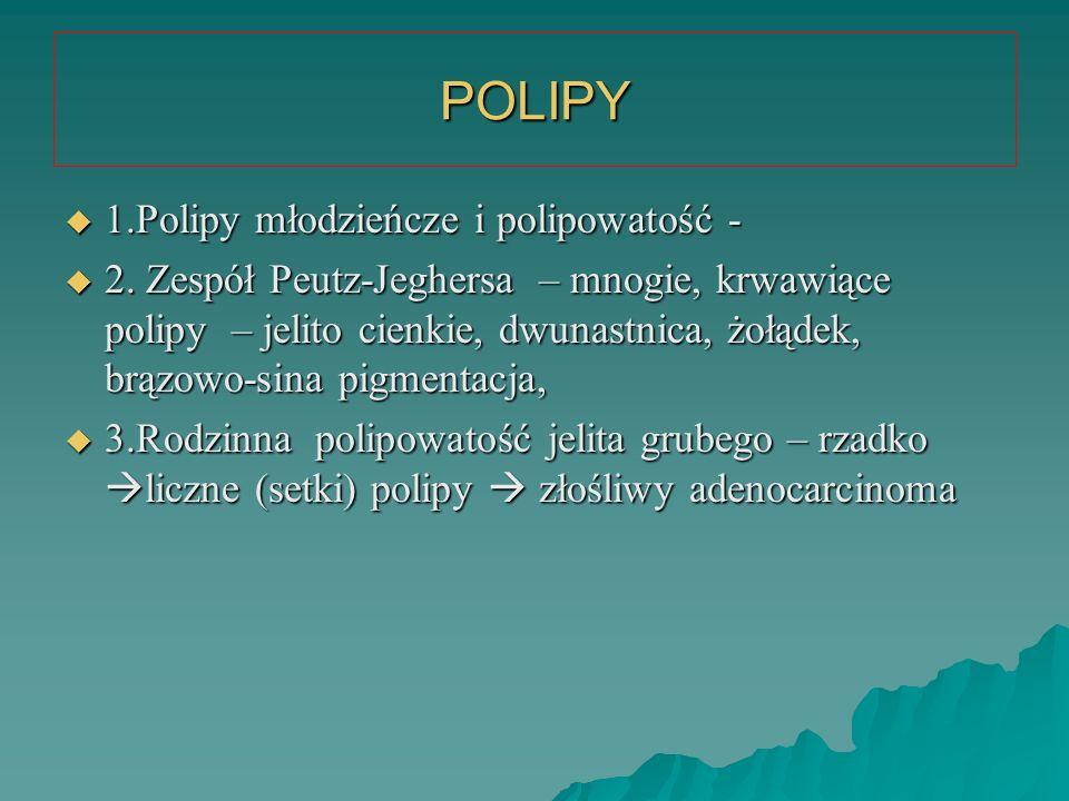 POLIPY 1.Polipy młodzieńcze i polipowatość -