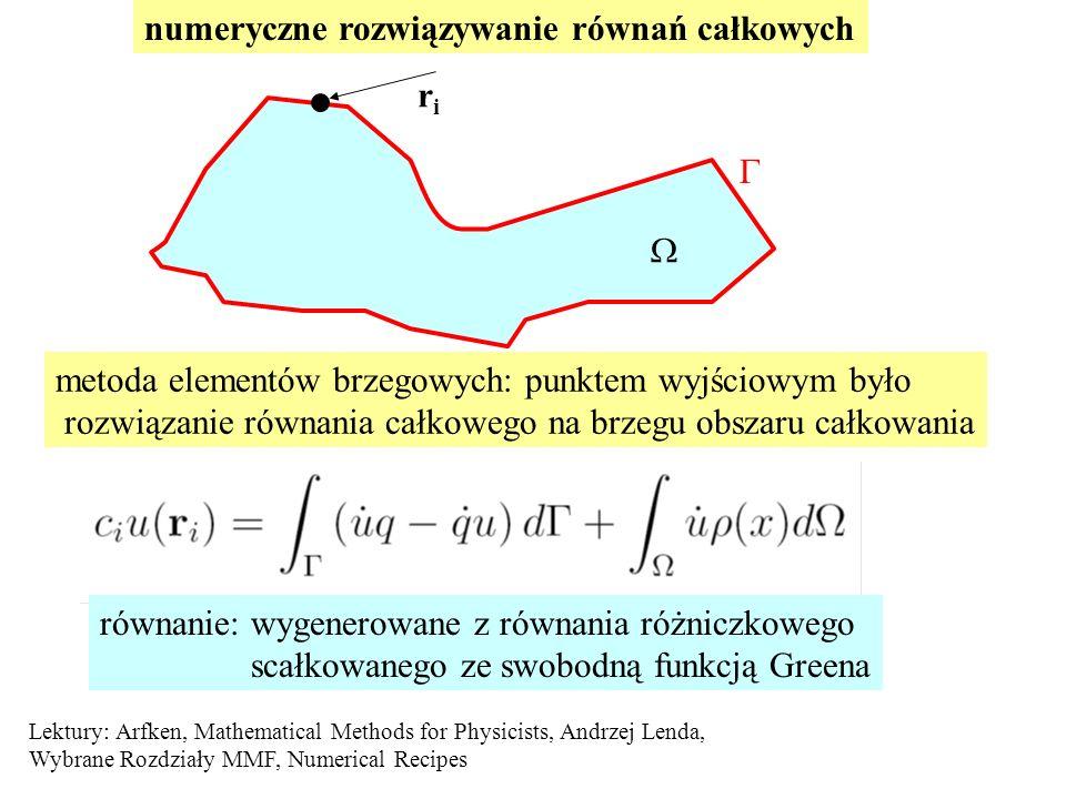 numeryczne rozwiązywanie równań całkowych