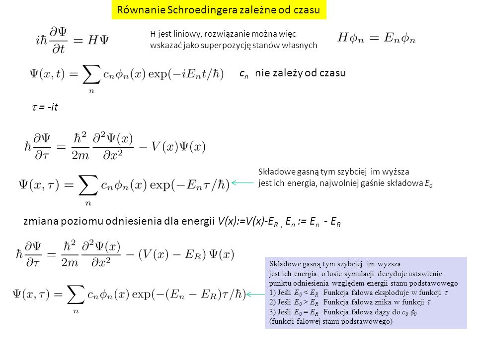 Równanie Schroedingera zależne od czasu