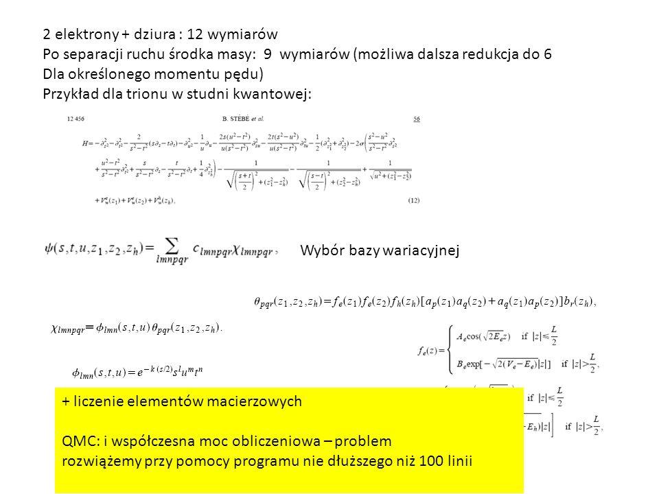 2 elektrony + dziura : 12 wymiarów