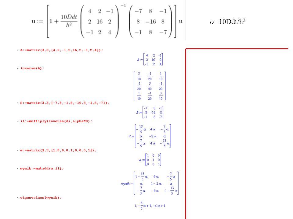 a=10Ddt/h2